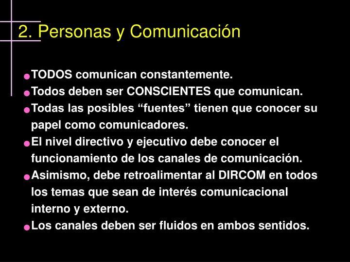 2. Personas y Comunicación