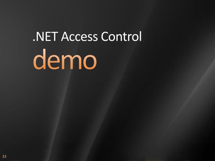 .NET Access Control
