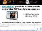 www xbrl es punto de encuentro de la comunidad xbrl de lengua espa ola