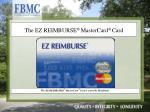 the ez reimburse mastercard card