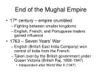 end of the mughal empire