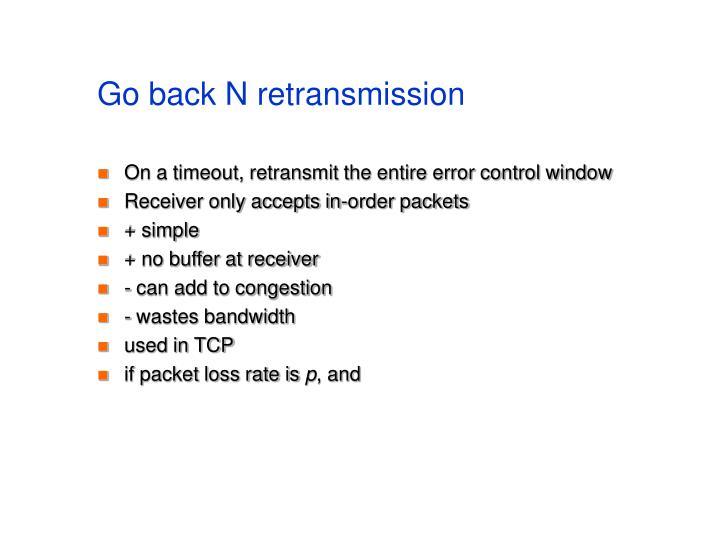 Go back N retransmission