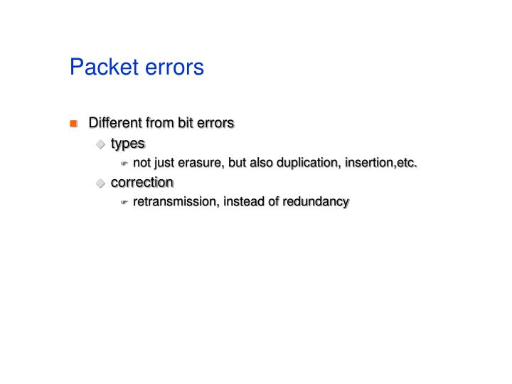 Packet errors