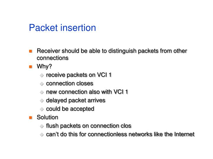 Packet insertion