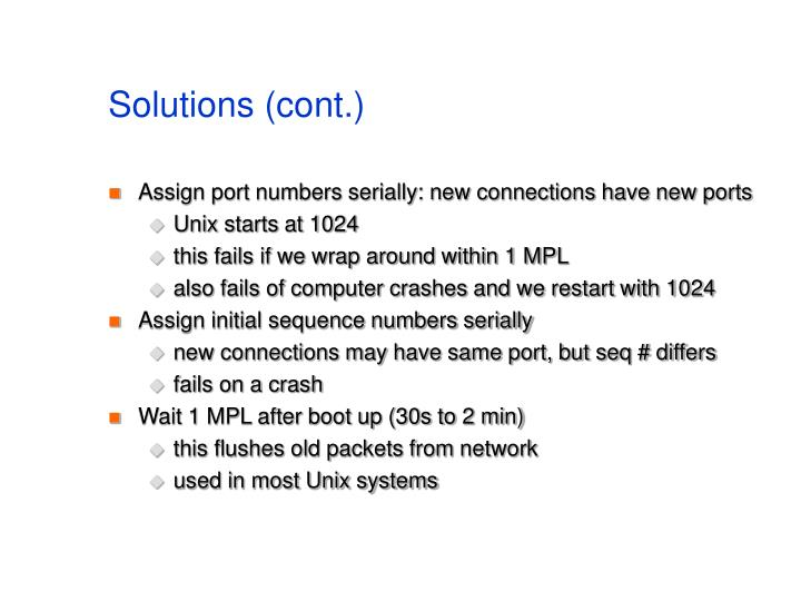 Solutions (cont.)