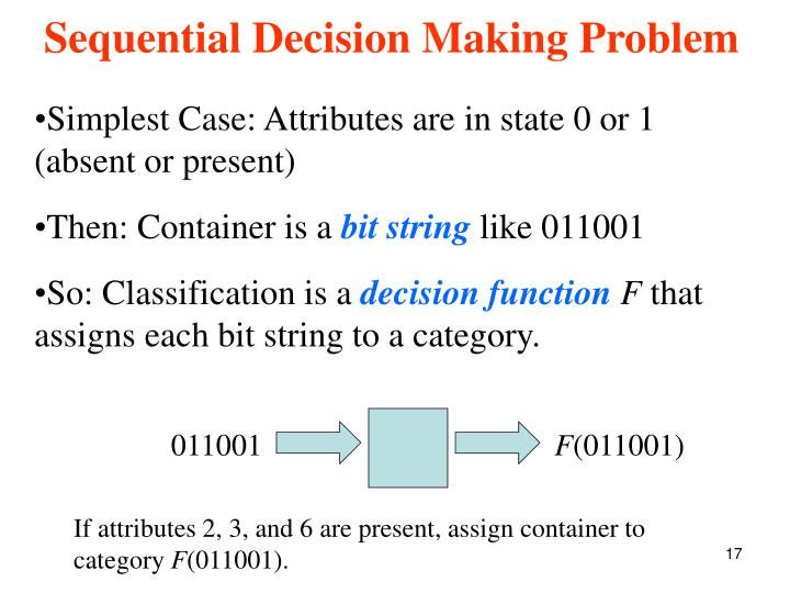Simplest Case: Attributes are in state 0 or 1 (absent or present)