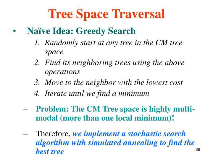 Tree Space Traversal