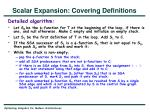 scalar expansion covering definitions5