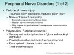peripheral nerve disorders 1 of 2
