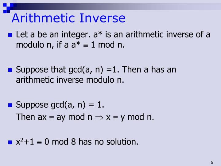 Arithmetic Inverse