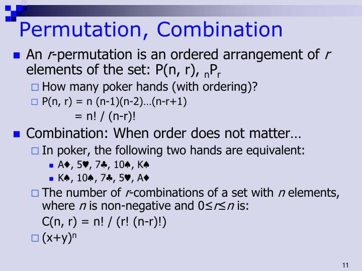 Permutation, Combination