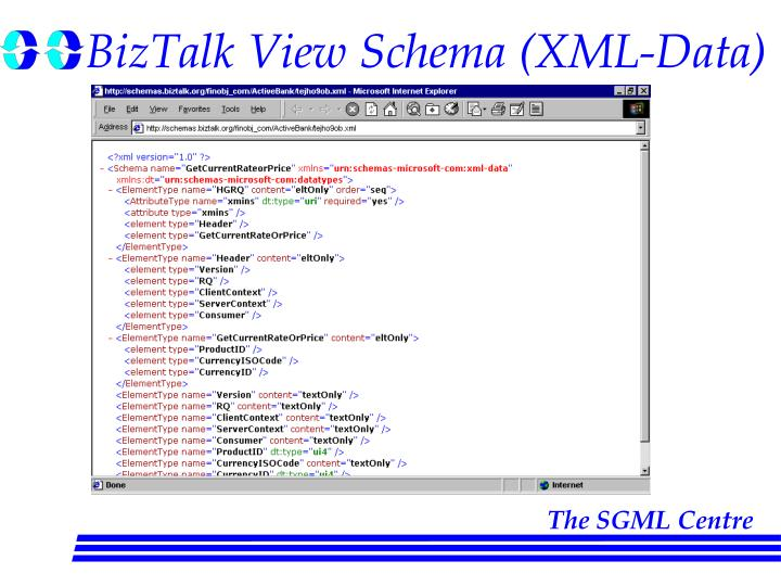 BizTalk View Schema (XML-Data)