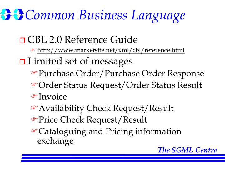 Common Business Language