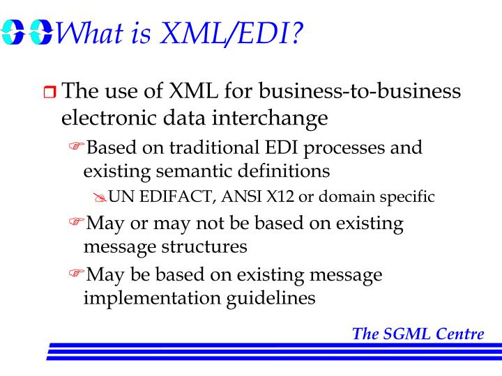 What is xml edi
