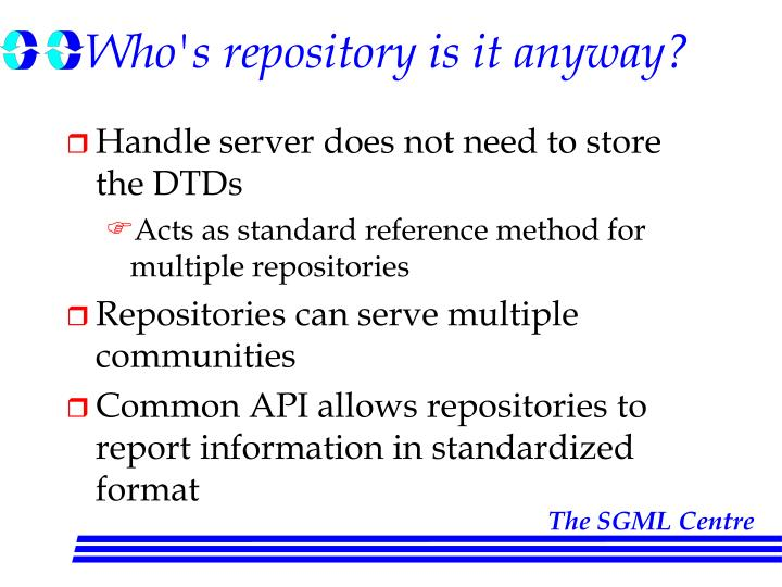 Who's repository is it anyway?