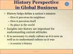 history perspective in global business