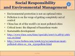 social responsibility and environmental management