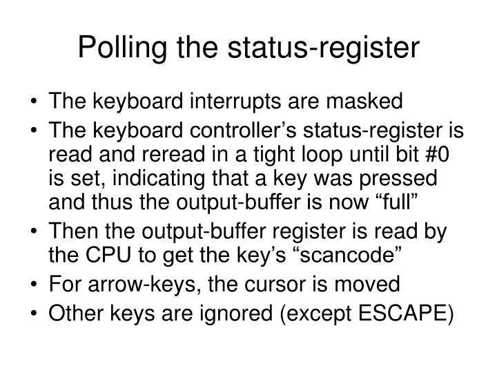 Polling the status-register