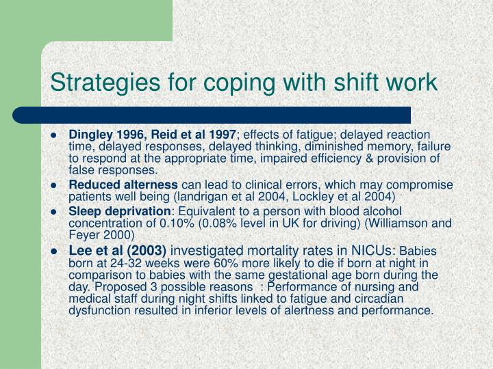 Strategies for coping with shift work