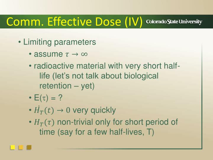 Comm. Effective Dose (IV)