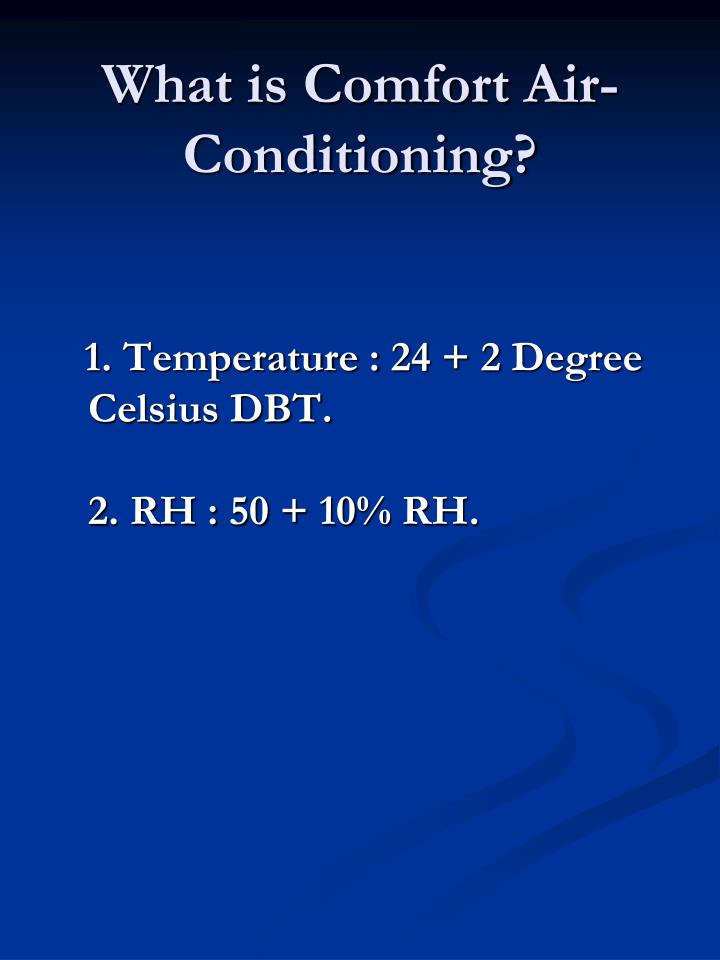 What is Comfort Air-Conditioning?