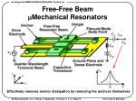 free free beam m mechanical resonators