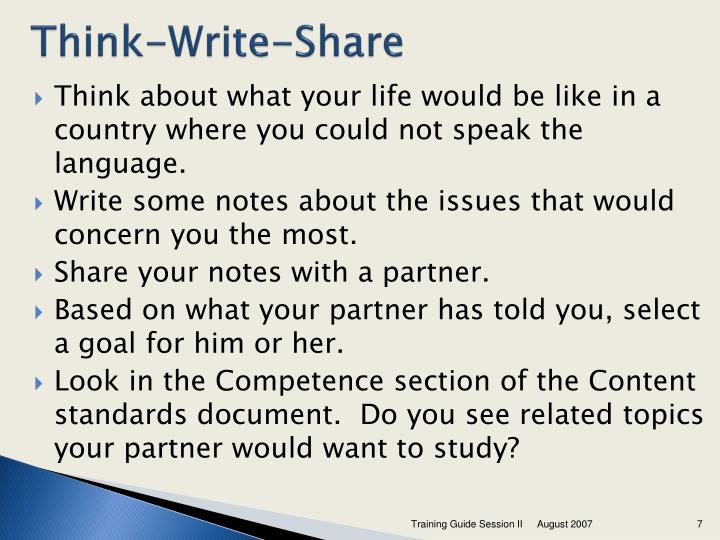 Think-Write-Share