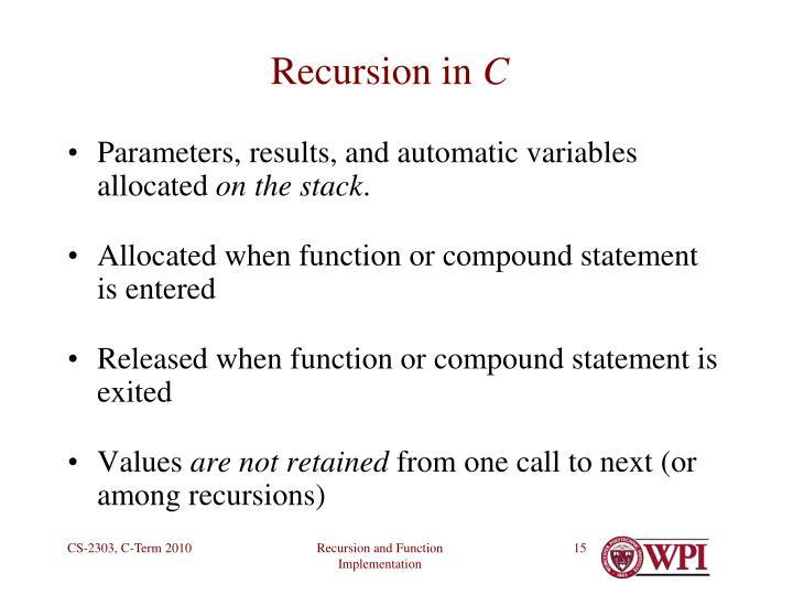 Recursion in