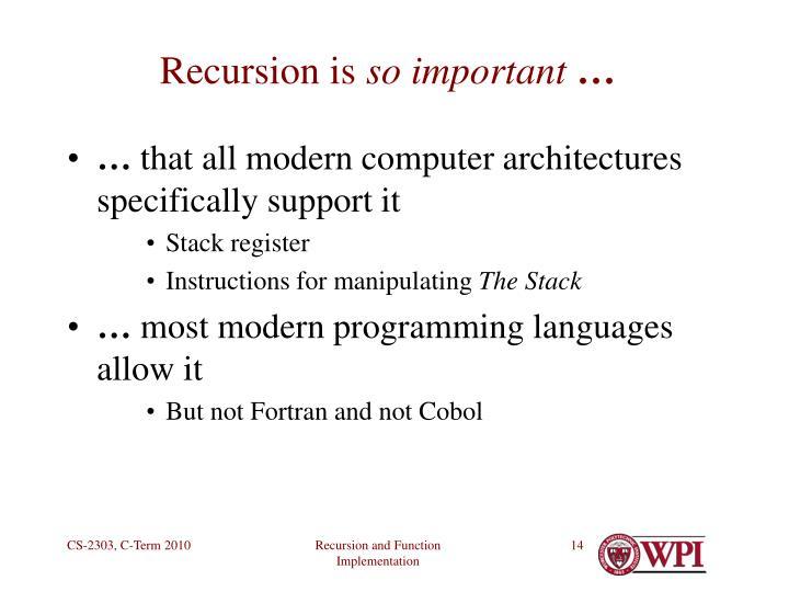 Recursion is