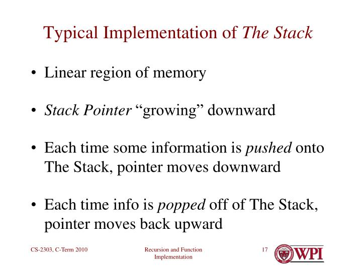 Typical Implementation of
