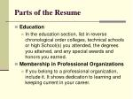 parts of the resume2