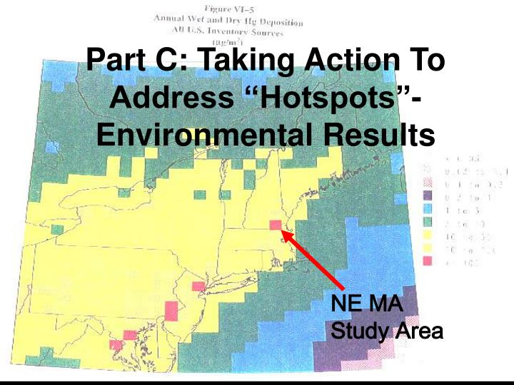 """Part C: Taking Action To Address """"Hotspots""""- Environmental Results"""