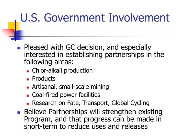 U.S. Government Involvement