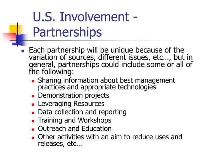 U.S. Involvement - Partnerships