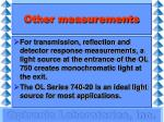 other measurements