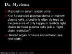 dx myeloma