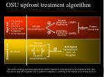 osu upfront treatment algorithm