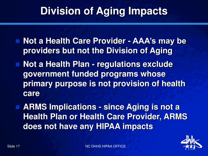 Division of Aging Impacts