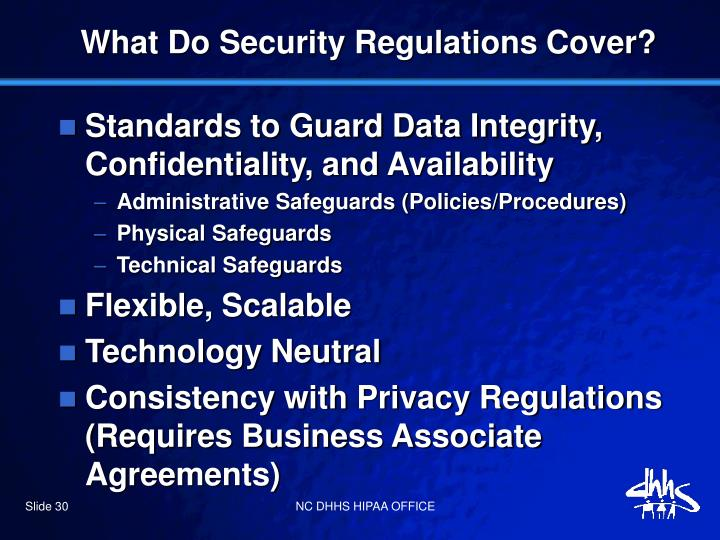What Do Security Regulations Cover?