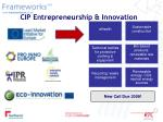 cip entrepreneurship innovation