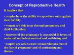 concept of reproductive health