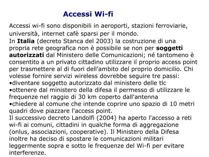 Accessi Wi-fi