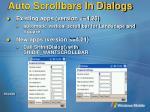 auto scrollbars in dialogs