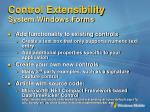 control extensibility system windows forms