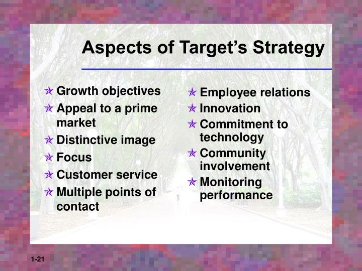 Growth objectives