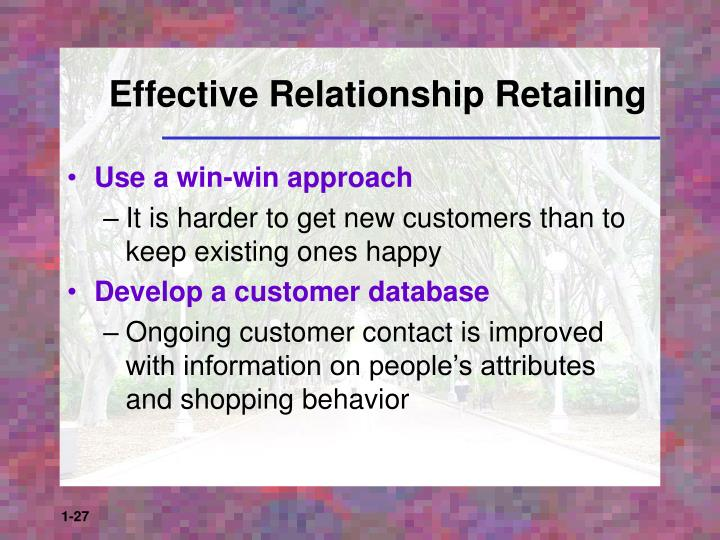 Effective Relationship Retailing