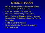 strength design