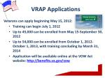 vrap applications