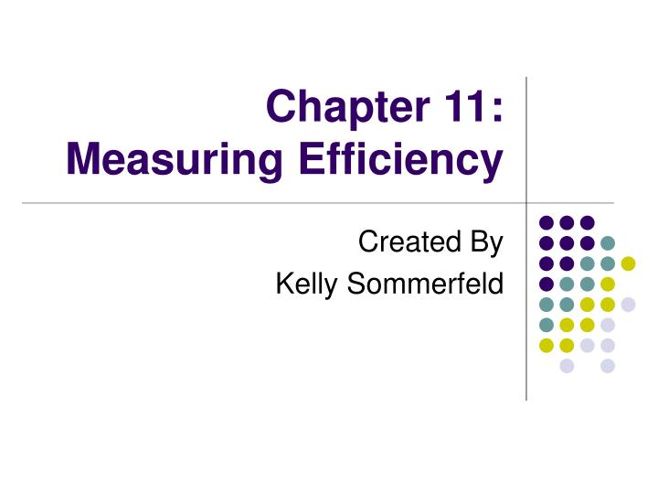 chapter 11 measuring efficiency n.