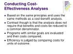 conducting cost effectiveness analyses